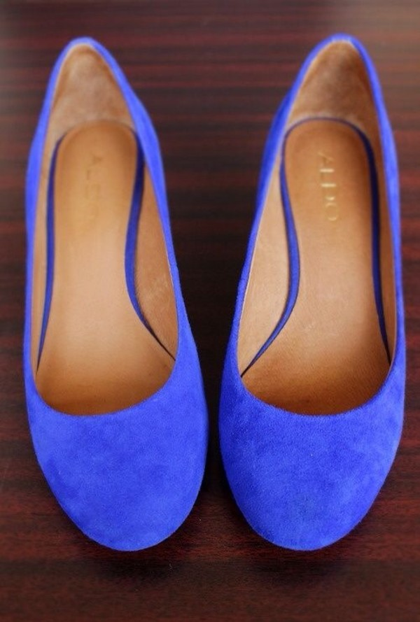 shoes cobalt blue flats