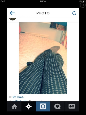 cute pants leggings dotted pattern checkered smart casual