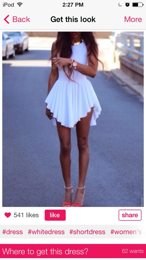 dress white dress short party dresses hat