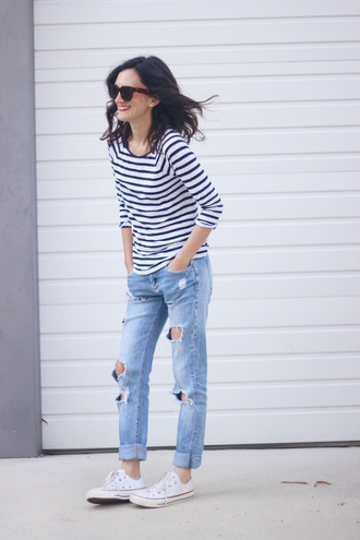frankie hearts fashion blogger shirt shoes