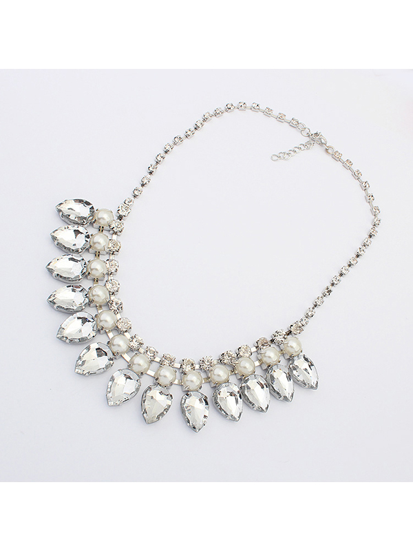Rhinestone Fashion Water Drop Necklace : KissChic.com