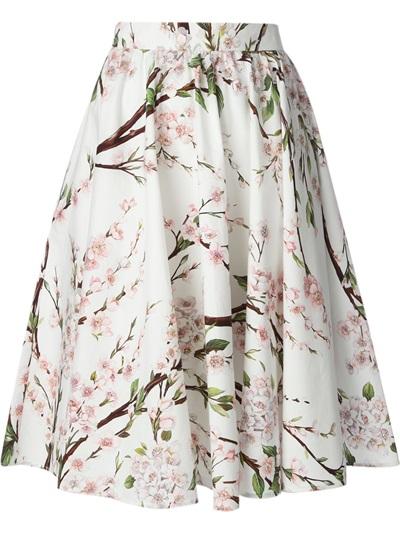 Dolce & Gabbana Floral Printed A-line Skirt - Parisi - Farfetch.com