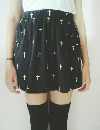 skirt cross tights socks grunge soft soft grunge girl alternative indie hipster one black and white classy young youth teenagers lovely filler
