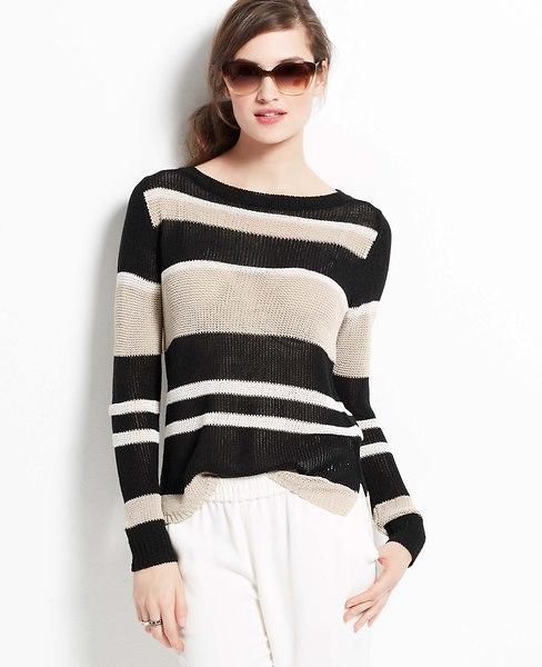 Marina Stripe Sweater   Ann Taylor