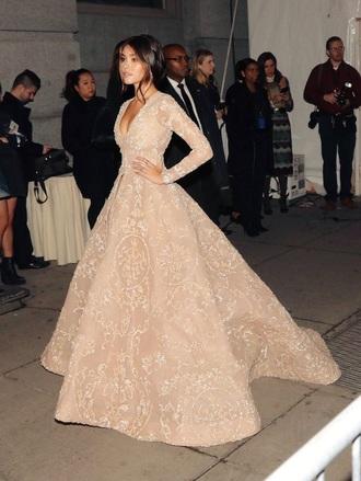 dress beige beige dress tan long tan dress long dress long sleeve dress sequin dress