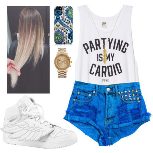 shirt pink partying cardio summa shoes muscle tee white tank top