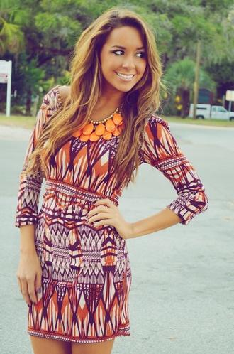 dress orange and purple