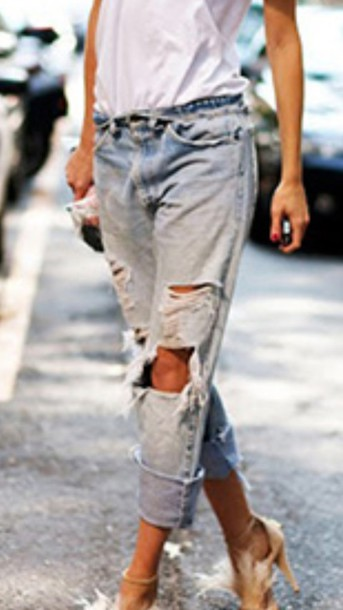 jeans ripped jeans rip street look
