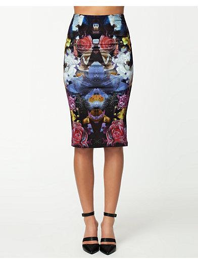 Midi Skirt - Textile Federation - Diamond Flower - Jupes - Vêtements - Femme - Nelly.com La Mode En Ligne Sur Internet
