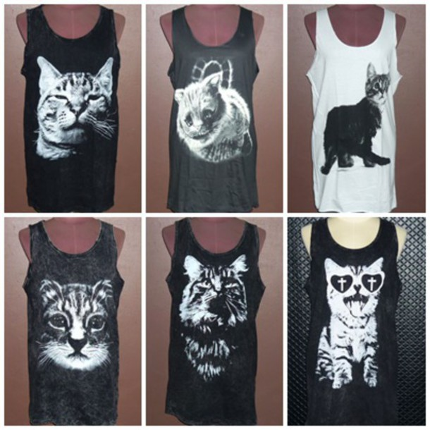 Wonderful tank top, tank top, cute cat, animal lover, animal print, animal  IT91