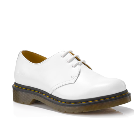 Dr Martens 1461 WOMENS WHITE SMOOTH - Doc Martens Boots and Shoes