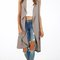 Sleeveless thermal drape front duster