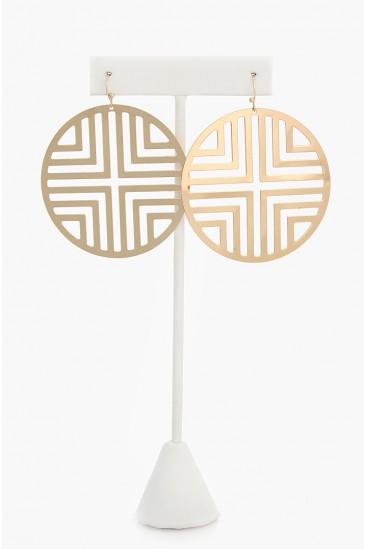 LoveMelrose.com From Harry & Molly | Tory Burch look Like  Earrings - GOLD - EARRINGS - JEWELRY