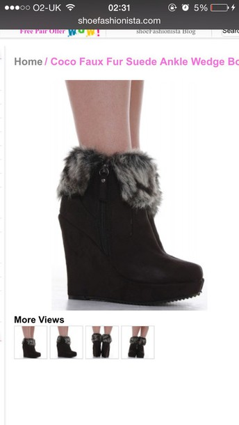 shoes blackabdwhite boots furry boots fashion trendy heels wedges cute shoes