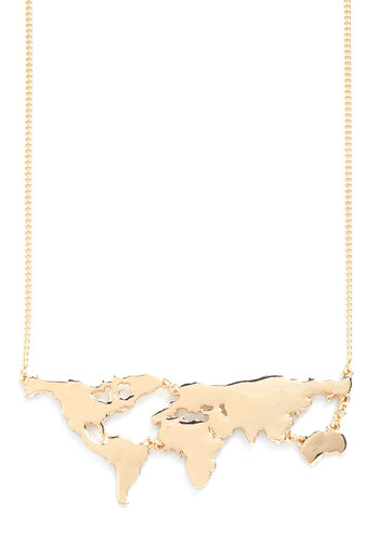 There's a Map for That Necklace | Mod Retro Vintage Necklaces | ModCloth.com