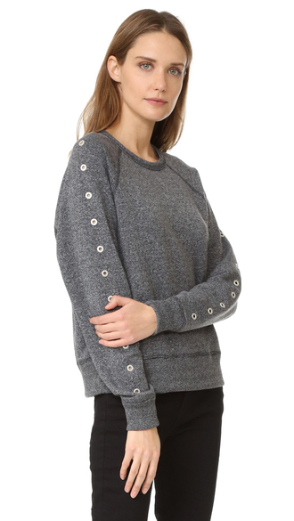 sweater classic pullover eyelet trim mid-weight jersey fashion clothes