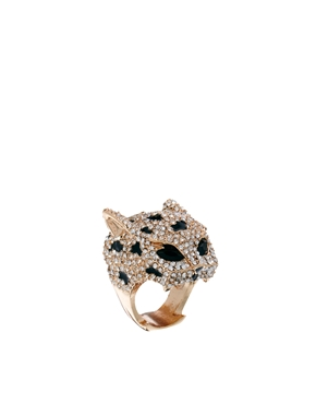 River Island | River Island Panther Multi Jewelled Ring at ASOS