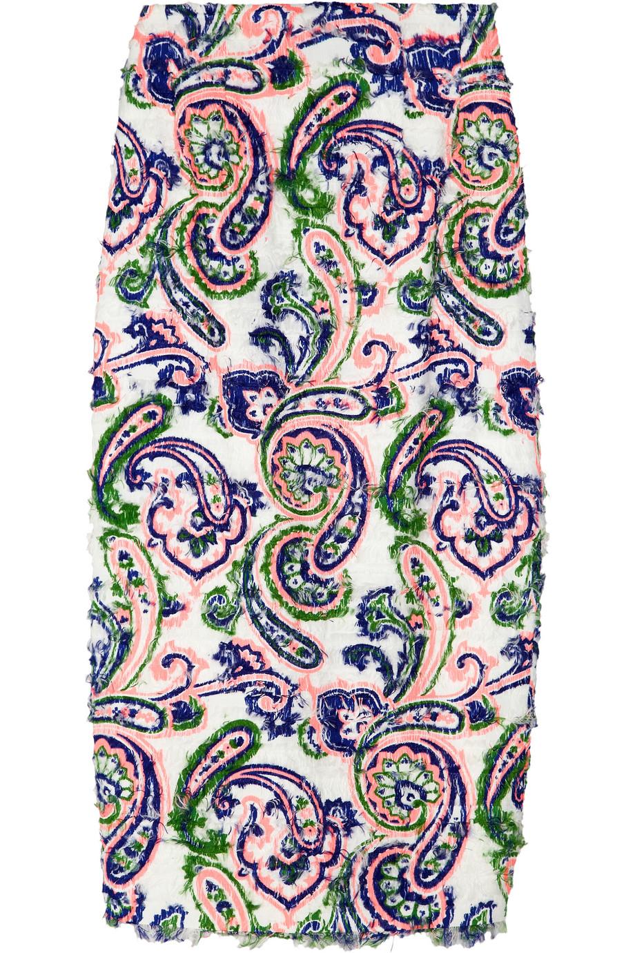 Lamb paisley-print woven skirt | Jil Sander | THE OUTNET