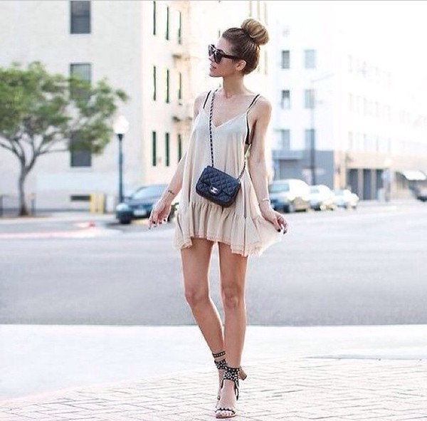 dress heels bag sunglasses summer dress