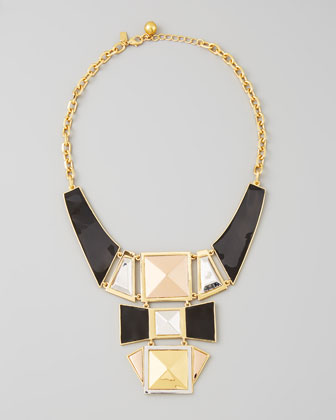 kate spade new york | mixed metal plate statement necklace - CUSP