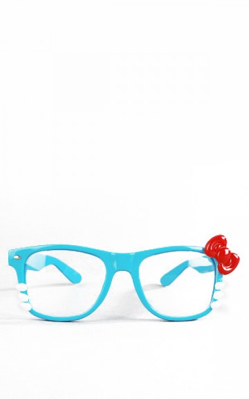 Blue Nerdy Wayfarer Kitty Glasses and shop accessories at MakeMeChic.com