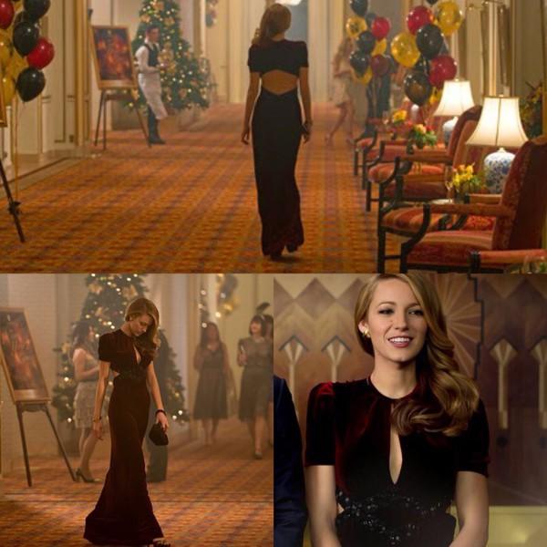 Dress Velvet Age Of Adaline Elegant Open Back Blake