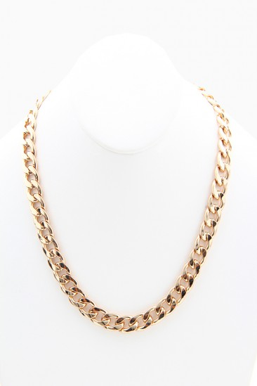 LoveMelrose.com From Harry & Molly   SHORT CHAIN NECKLACE - GOLD