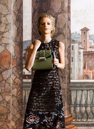 bag purse lottie moss model editorial instagram dress
