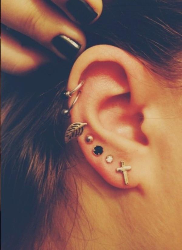 jewels earrings jewelry feather earrings feathers piercing