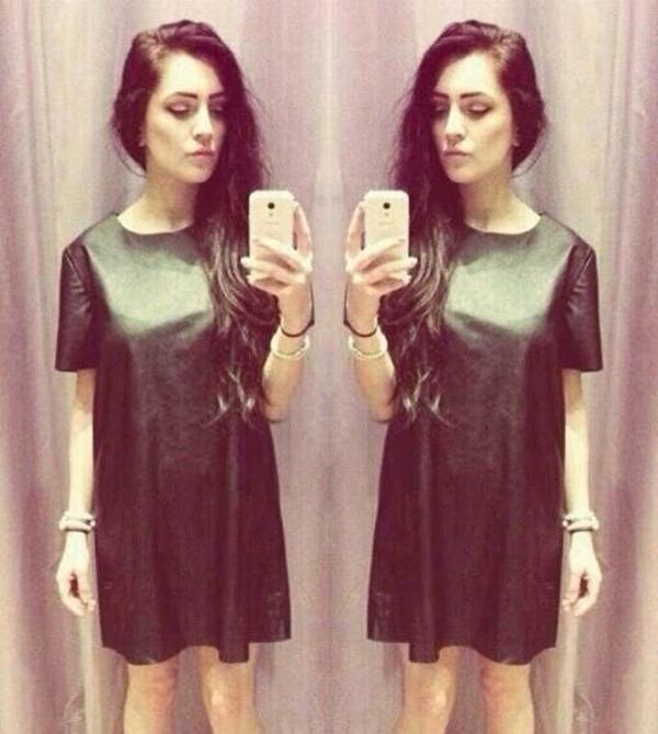 dress leather t-shirt shirt metallic grunge
