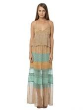 Gypsy05.Com - Official Website :: Shop Women Maxi Dresses - Aphrodite Printed Chiffon Panel Maxi Dress