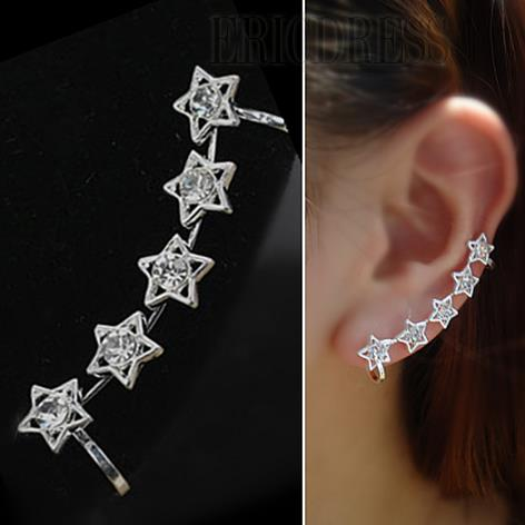 Fashion Hollow-out Star Design Lady's Ear Clip Earring  Earrings- ericdress.com 10785855
