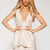 Off-white Party Dress - Blush Champagne Plunge Dress | UsTrendy