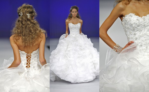 wedding dress wedding ball gowns lace up bridal gown ruffle