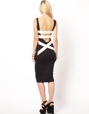 Quontum | Quontum Midi Body-Conscious Dress With Strap Back at ASOS