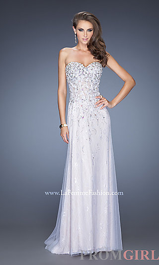 Prom Dresses, Celebrity Dresses, Sexy Evening Gowns - PromGirl: Floor Length Strapless Sweetheart La Femme Dress 20172