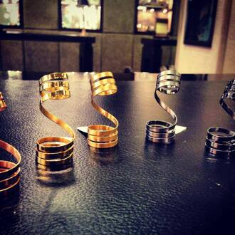 silver gold jewels double ring rings and tings double ring