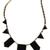 Black Collar Geometry Irregular Pendant Necklace - Sheinside.com