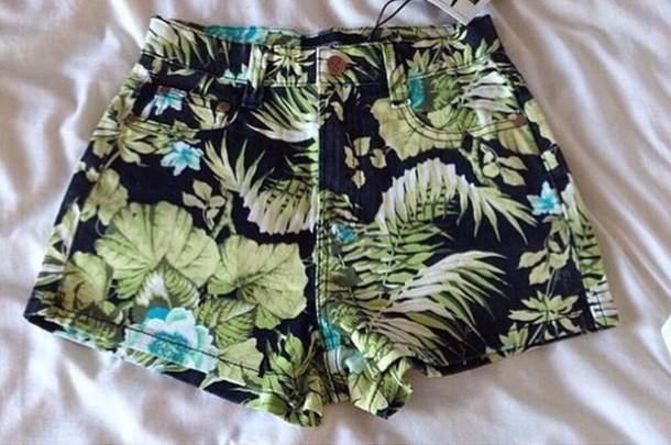 shorts flowered shorts