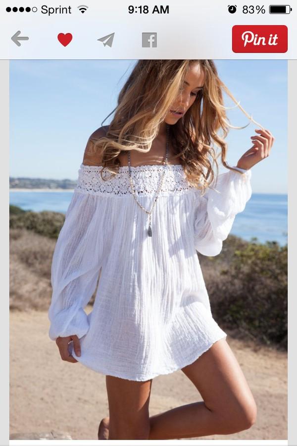 dress white off the shoulder dress