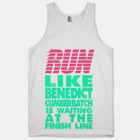 Run Like Benedict Cumberbatch   HUMAN   T-Shirts, Tanks, Sweatshirts and Hoodies