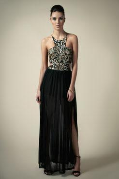 Boutique Billie Tie Back Mesh/Sequin Maxi Dress at boohoo.com