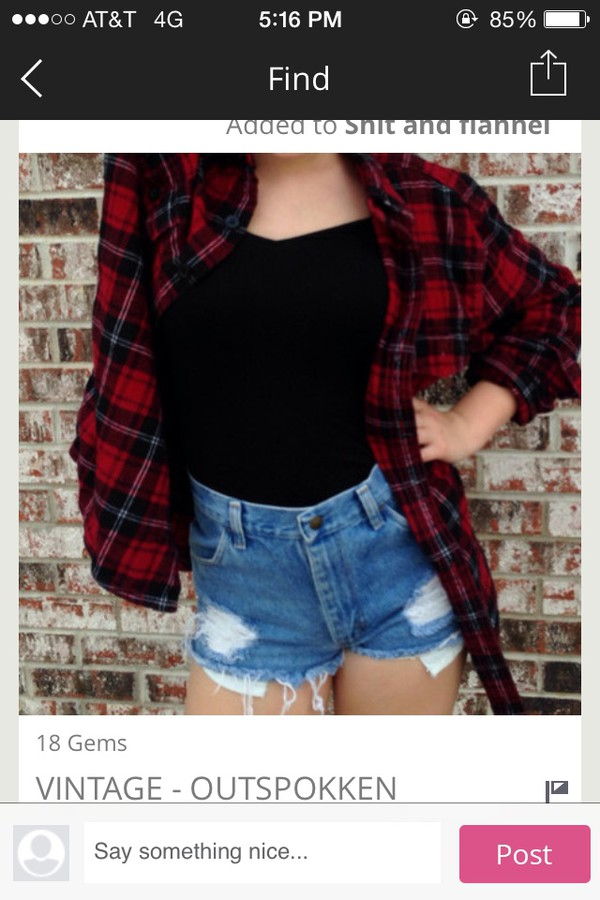 top flannel