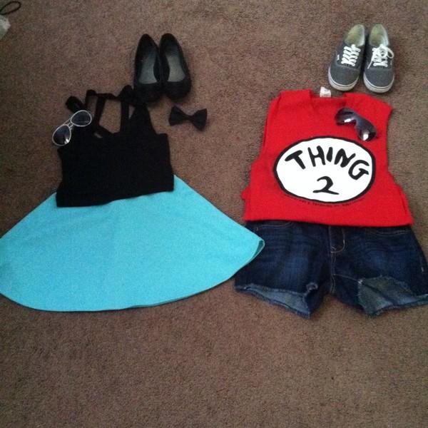 skirt black teal skirt crop tops flats thing 2 denim shorts vans