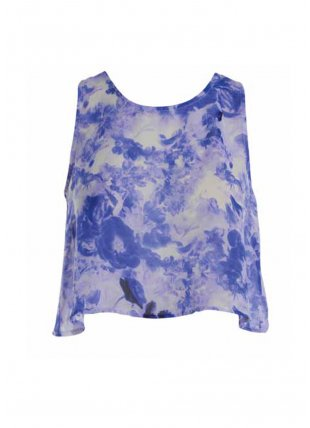 Blue Floral Crop Top - Tops from Glebe UK