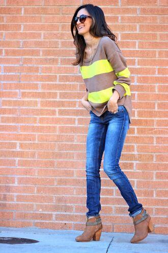 frankie hearts fashion sweater jeans shoes sunglasses jewels
