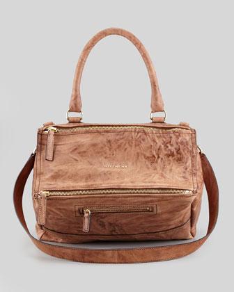 Givenchy Pandora Leather Satchel Bag, Medium - Bergdorf Goodman