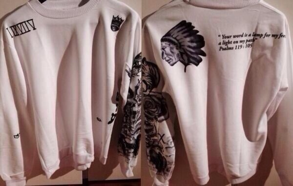 sweater sweatshirt winter sweater oversized sweater tattoo justin bieber tattoos jumper white justin bieber