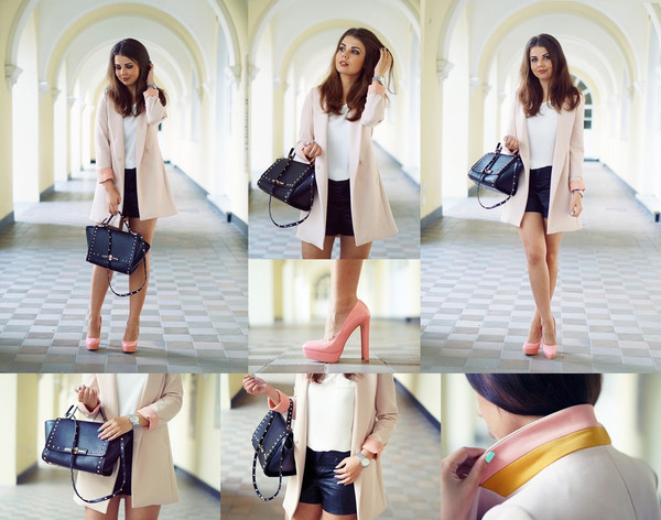 a piece of anna jacket blouse shoes shorts