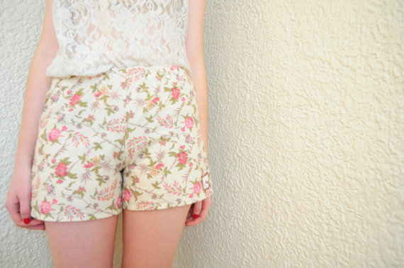 Floral Girly Boxer Pyjama Shorts Pyjama von LittleRenCreations